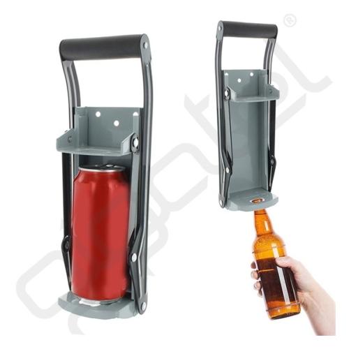 Palackprés (mechanikus működésű, sörnyitó funkció) CAN & PET 0,5L / FÉMPALACK tömörítő SZÜRKE